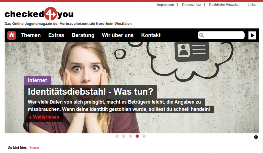 Screenshot Jugendmagazin checked4you